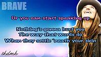 Karaoke Sara Bareilles - Brave Karaoke_Instrumental.avi