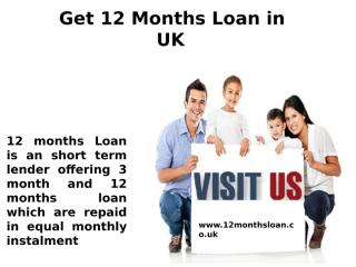 Get 12 Months Loan in UK.ppt