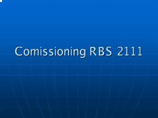 Comissioning RBS 2111.pdf