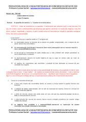 prova resolvida-sefaz - 2010 - português-comentada-luciana.pdf