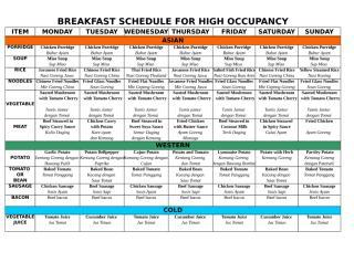 Breakfast schedule for high occ.xls