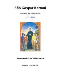 São Gaspar Bertoni, Fundador Dos Estigmatinos - Resumo de Sua Vida e Obra.pdf