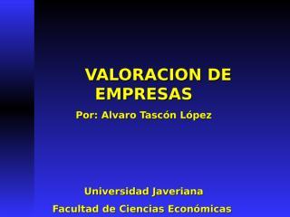valoracion empresas colombia.ppt