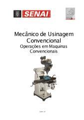 Mecânica Usinagem - Operação em Máquinas Convencionais.pdf