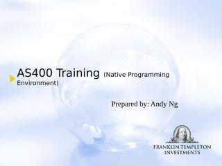 AS400 Training Part I_Version 1.1.ppt