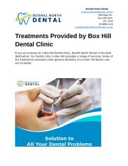 Treatments Provided by Box Hill Dental Clinic.docx